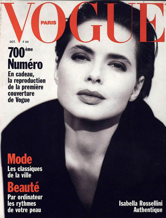 Isabella Rossellini in Vogue
