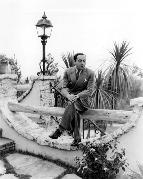EL_Ernst Lubitsch outside his Bel Air home  1935