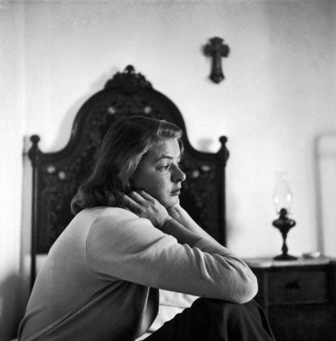 Ingrid Bergman during filming of the movie, Stromboli, on the Italian island of Stromboli, 1949 gordon parks