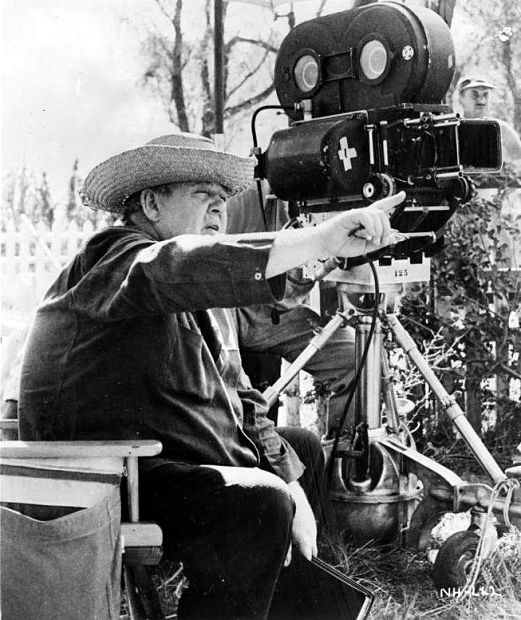 MITCHUM_Charles Laughton directs The Night of the Hunter