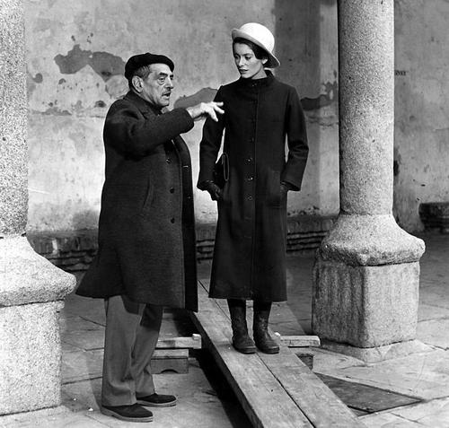 TRIST_Luis Bunuel and Catherine Deneuve on the set. tristana1