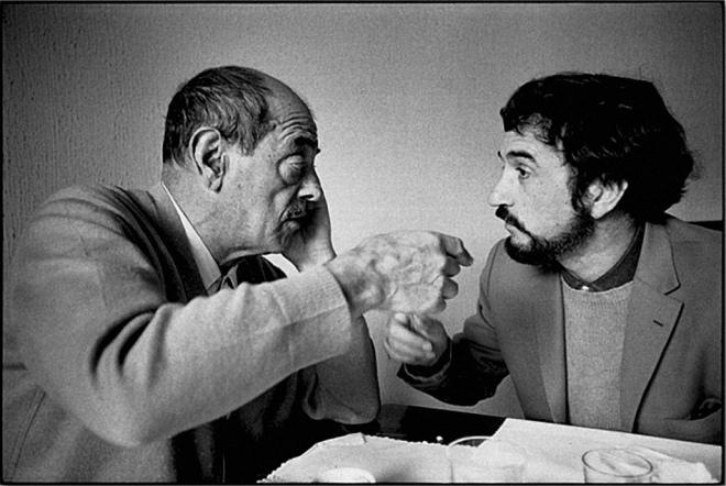 Tristana_Luis Buñuel and Jean-Claude Carriere discussing the Tristana script,Toledo, Spain 1969