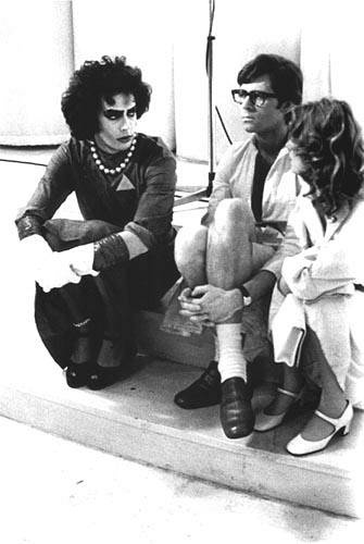 Tim-Curry-Barry-Bostwick-Susan-Sarandon-on-the-set-of-The-Rocky-Horror-Picture-Show