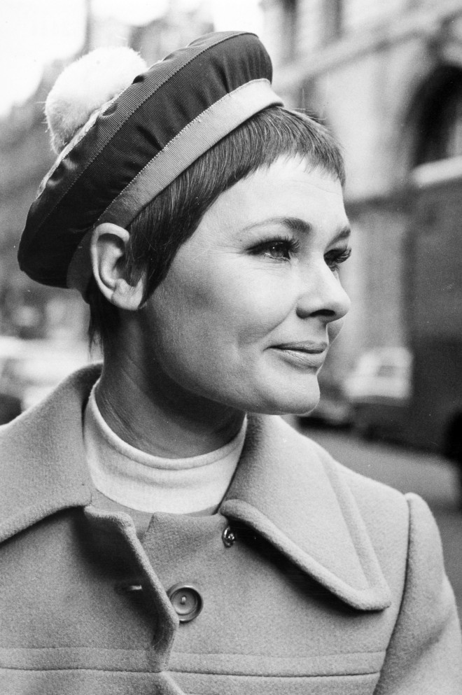 Personalities. Stage and Screen. pic: 27th February 1968. London. Award winning British actress Judi Dench (born 1934) one of the greatest actors of the post-war period, pictured wearing a fashionable Christian Dior designed beret.