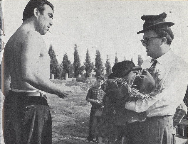 Federico Fellini and Anthony Quinn on La Strada