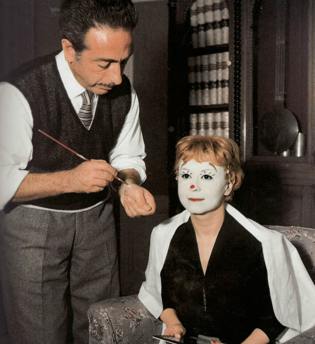 Giuletta Masina on the set of La Strada (1954)