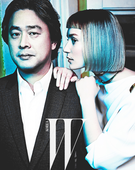 Mia Wasikowska & Park Chan Wook cover to W Korea, March 2013.