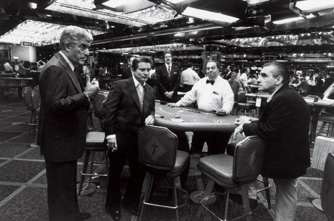 Casino_Martin Scorsese directs Frank Vincent and Joe Pesci on the set of Casino (1995)