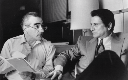 Casino_y. Martin Scorsese and Joe Pesci on-set of Casino (1995)