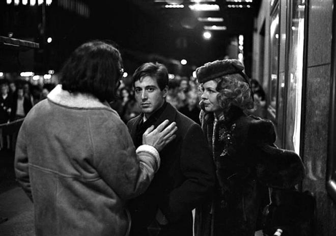 Harry Benson Francis Ford Coppola, Al Pacino, and Diane Keaton, New York City, 1971
