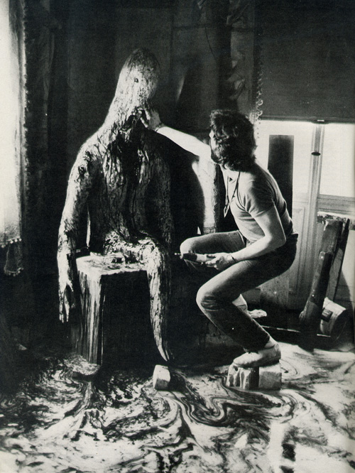 "Andrzej Żuławski preparing the monster for ""Possession"" (1981)"