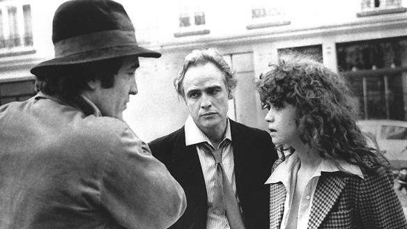Bernardo Bertolucci, Marlon Brando and Maria Schneider on-set Last Tango in Paris (1972)