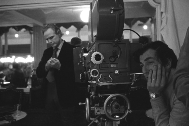 Marlon Brando and Bernardo Bertolucci on-set of Last Tango in Paris2 (1972)