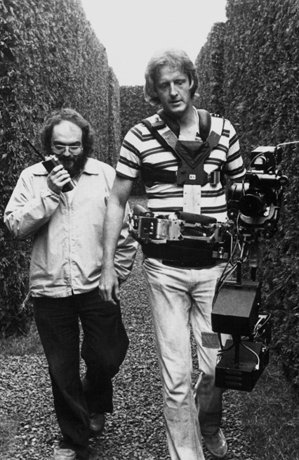 Stanly Kubrick and Garrett Brown (inventor and operator of Steadicam) on the set of The Shining (1980)1