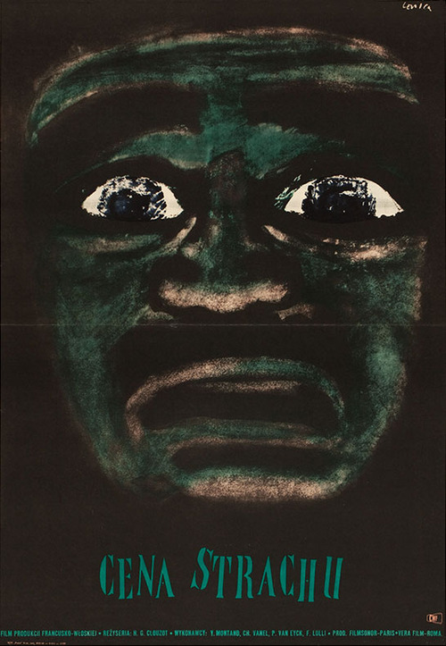 1968 Polish poster for THE WAGES OF FEAR (Henri-Georges Clouzot, France Italy, 1953)