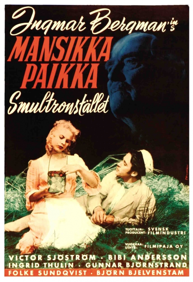 Finnish Poster for Wild Strawberries (Ingmar Bergman, 1957)Finnish Poster for Wild Strawberries (Ingmar Bergman, 1957)