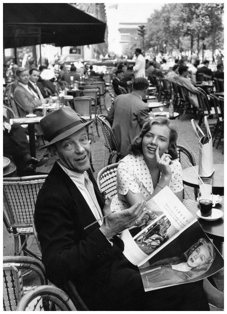 Fred Astaire on the Champs Elyséees 1961 Willy Rizzo