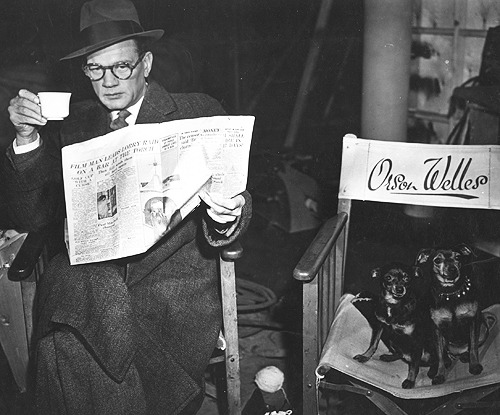 Joseph Cotten on the set of The Third Man (1949)