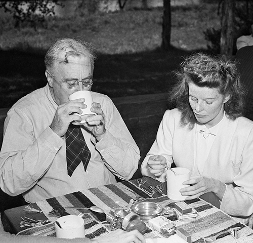 Katherine Hepburn & President Roosevelt1