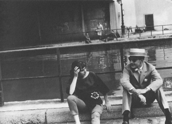 Agnès Varda and Jean-Luc Godard on the set of Cléo from 5 to 7 (1961)