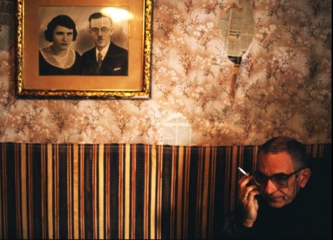 Krzystof Kieslowski on the shooting of White, 1992; photo by Piotr Jaxa