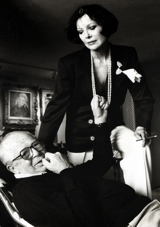 Billy & Audrey Wilder, 1985 by Helmut NEWTON