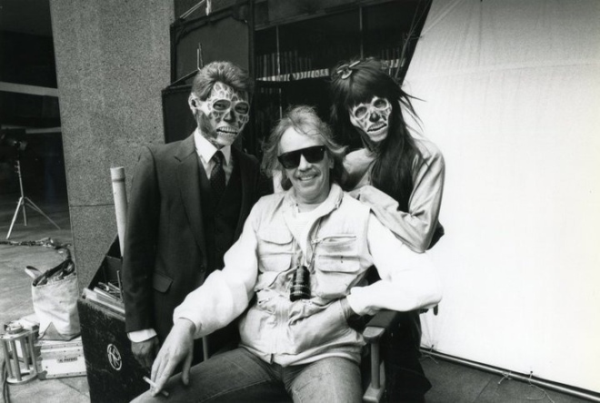 John Carpenter on the set of They Live