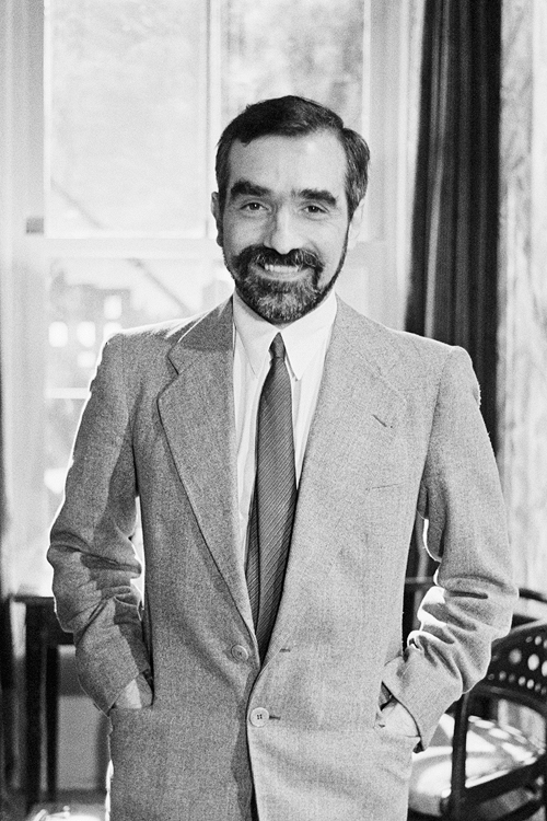 """Martin Scorsese as an actor on the set of Bertrand Tavernier's film """"Round Midnight"""", photographed by Etienne George, 1985."""