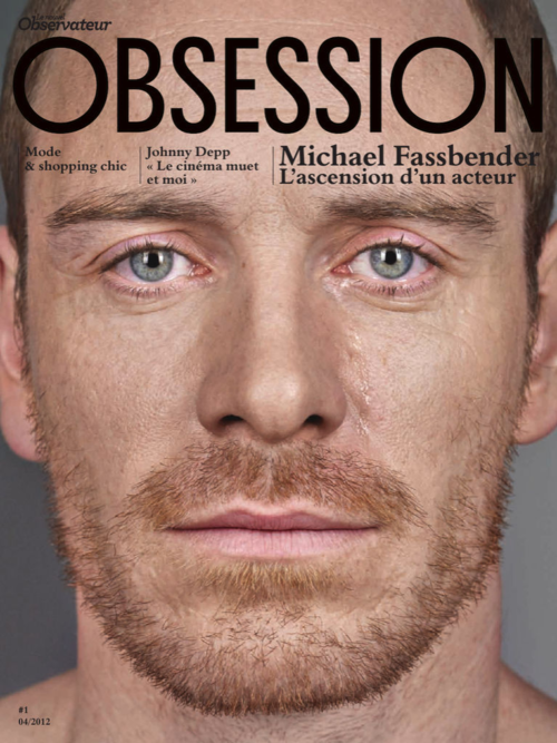 Fassbender in Obsession Magazine,Photos by Jean-Baptiste Mondino
