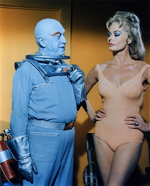 Otto Preminger & Dee Hartford in 'Batman' (TV Series, November 1966)