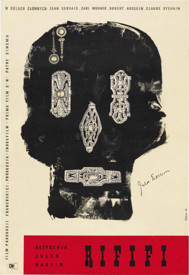 Rififi (Jules Dassin, 1955) Polish design by Maciej Hibner