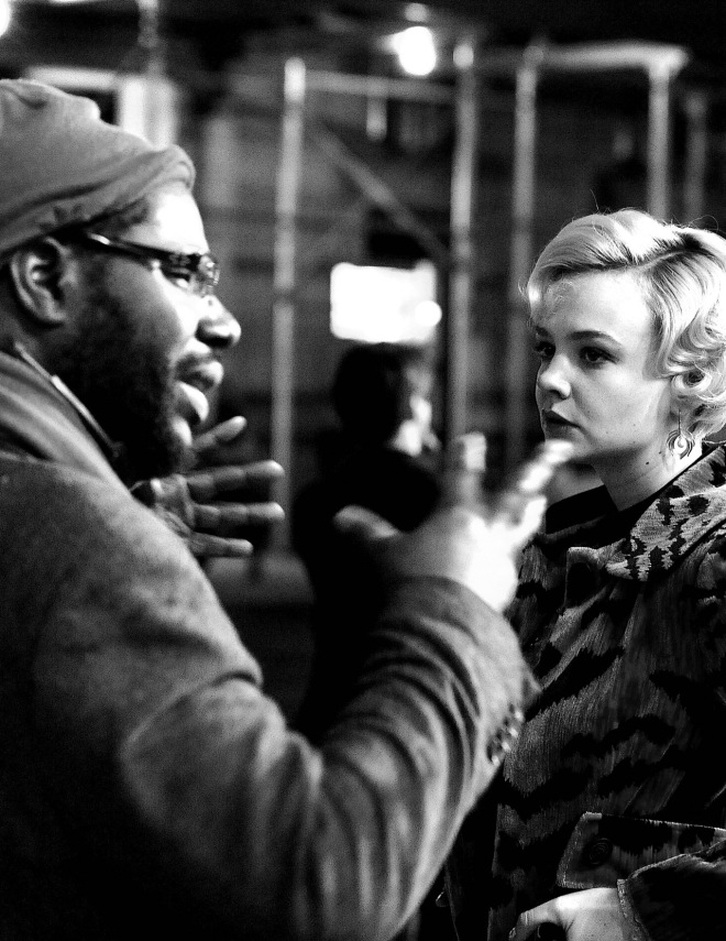 Steve McQueen and Carey Mulligan filming Shame (2011)