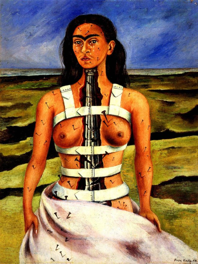 The broken column,1944_Frida Kahlo