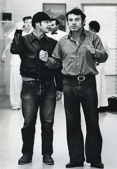 Jack Nicholson & Milos Forman on the set of One Flew Over the Cuckoo's Nes