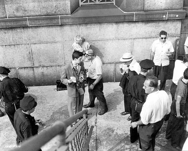 Stanley Kubrick on the set of Jules Dassin's Naked City (1948) for Look Magazine.