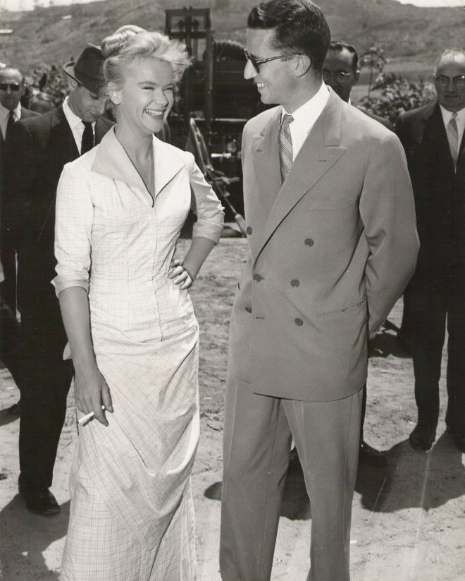 anne francis with king Baudoin of Belgium on set of Rawhide_1959 !