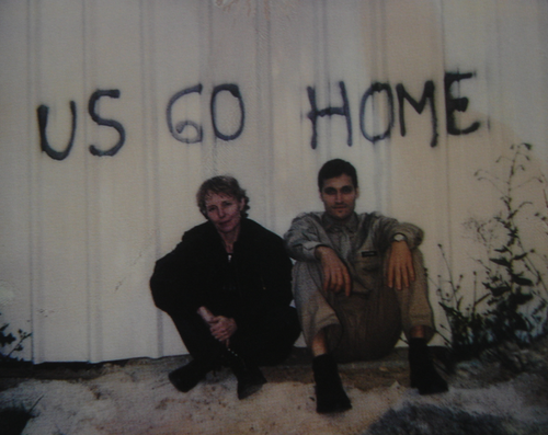 Claire Denis and Vincent Gallo on the set of U.S. Go Home (1994)