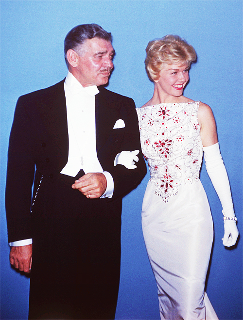 Clark Gable and Doris Day at the 30th Annual Academy Awards, 1958