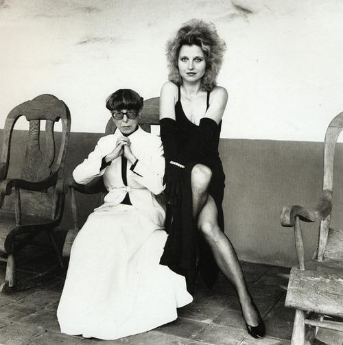 Edith Head & Hanna Schygulla. Los Angeles 1980. - Helmut Newton
