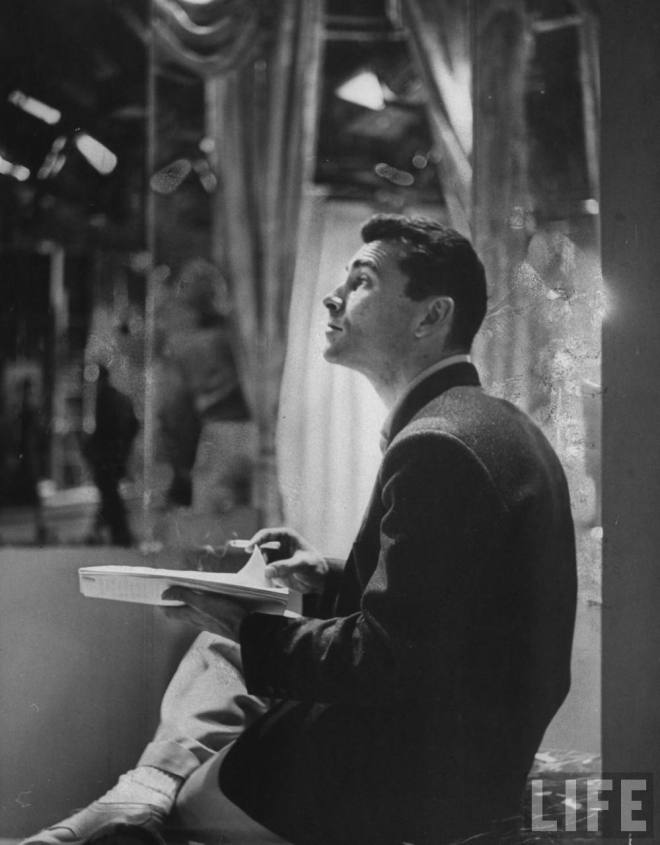 Rod Serling, CBS Television Studios, New York, 1955, photo by Loomis Dean
