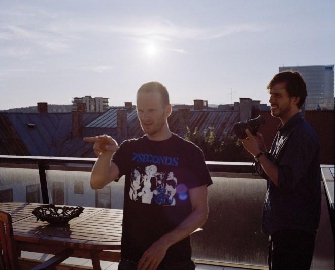 Joachim Trier while filming Oslo, August 31st (2011)