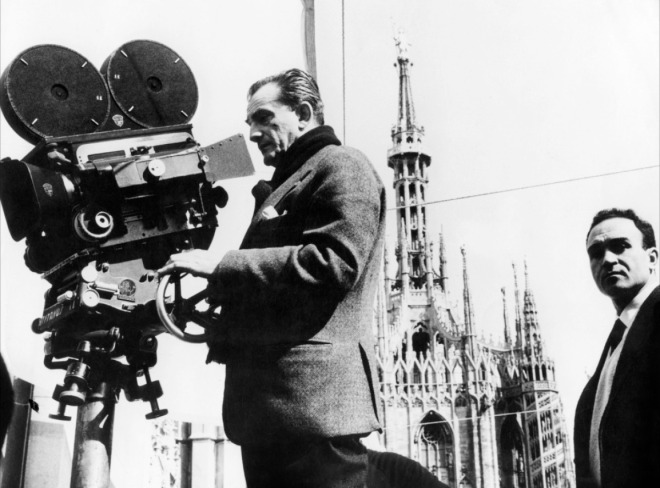 Luchino Visconti on-set of Rocco and His Brothers (1960)