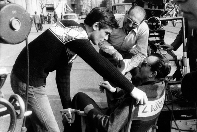 On the set of Rocco e i suoi fratelli; with Luchino Visconti-2