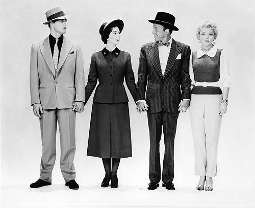 Promotional shots of Marlon Brando, Jean Simmons, Frank Sinatra, and Vivian Blaine for Guys and Dolls (1955)