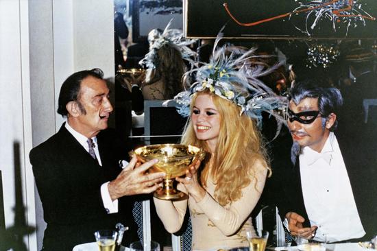 Salvador Dali, Brigitte Bardot, Gunter Sachs_undated