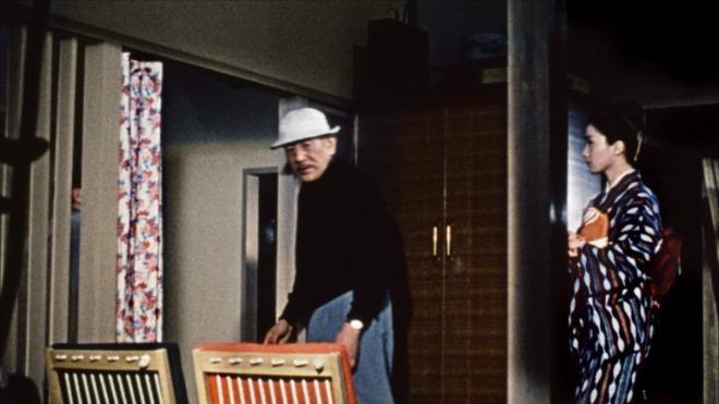 Yasujiro Ozu shooting Samma no aji (1962)