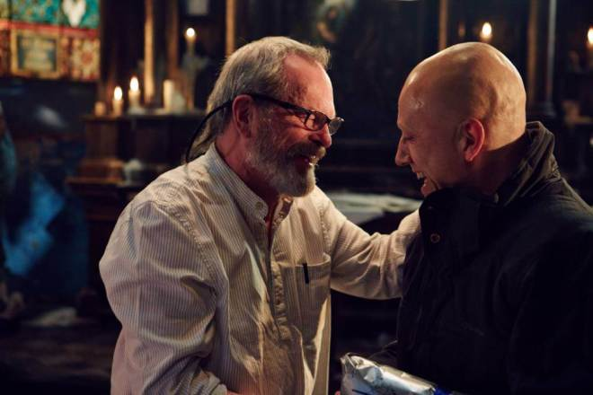 Terry Gilliam and Christoph Waltz - The Zero Theorem - at cinemas 14 March 2014