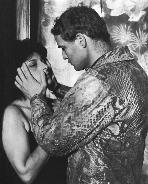 Anna Magnani and Marlon Brando in The Fugitive Kind, 1959.