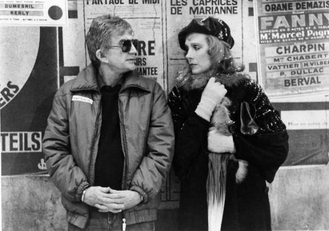 Blake Edwards and Julie Andrews on the set of Victor Victoria