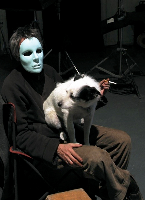Leos Carax on the set of Holy Motors (2012)